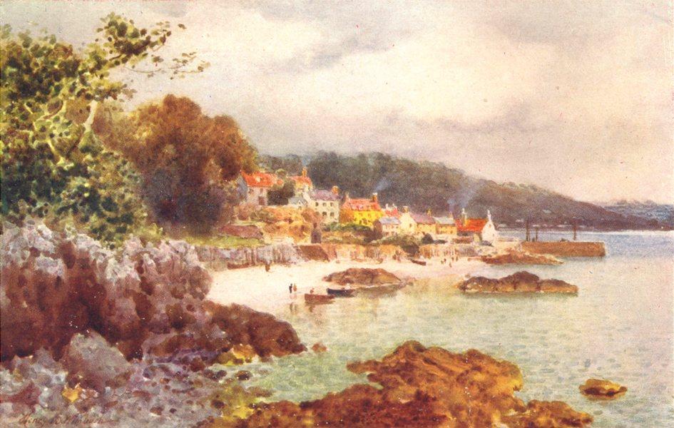 Associate Product CHANNEL ISLANDS. St. Aubin, Jersey 1904 old antique vintage print picture