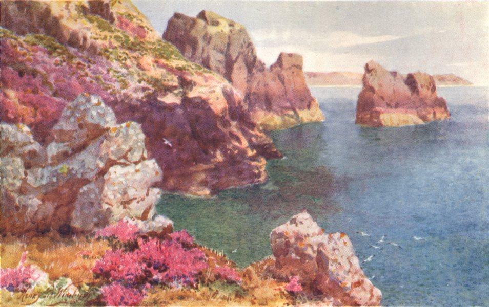 Associate Product CHANNEL ISLANDS. Fiquet Bay, Jersey 1904 old antique vintage print picture