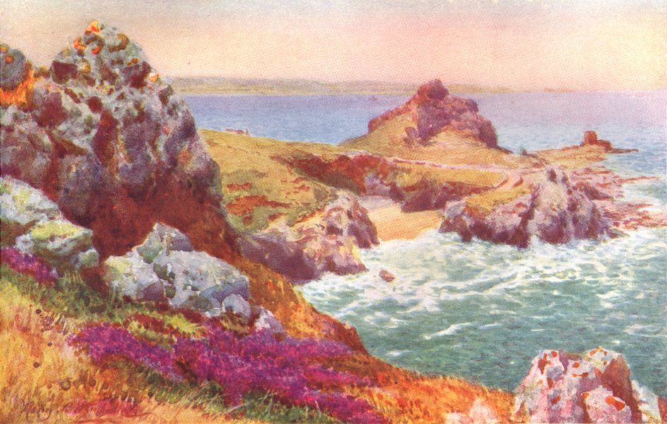 Associate Product CHANNEL ISLANDS. L'Etac, Jersey 1904 old antique vintage print picture