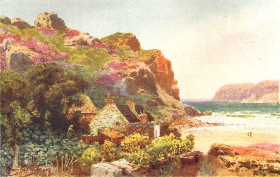Associate Product CHANNEL ISLANDS. La Cotte, St. Brelade, Jersey 1904 old antique print picture