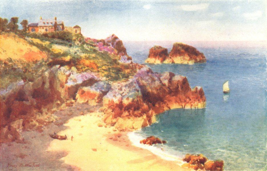 Associate Product CHANNEL ISLANDS. Petit Portelet Bay, Jersey 1904 old antique print picture