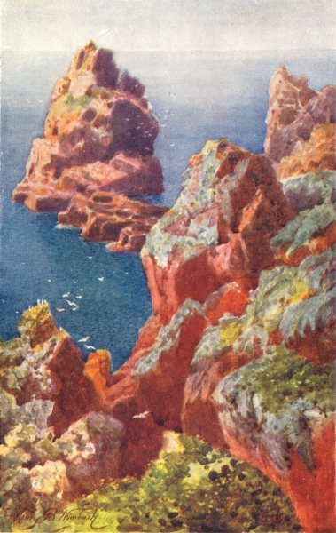 Associate Product CHANNEL ISLANDS. Grosse Tête, Mont Fiquet, Jersey 1904 old antique print