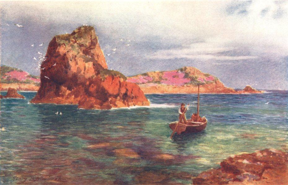 Associate Product CHANNEL ISLANDS. Le Fret Point, Jersey 1904 old antique vintage print picture