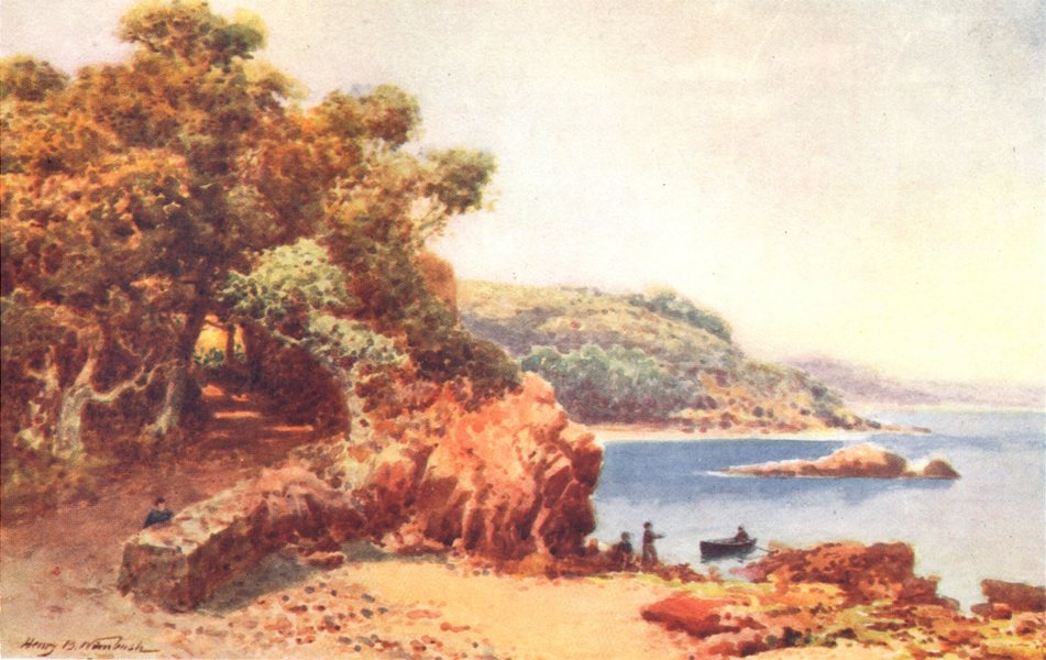 Associate Product CHANNEL ISLANDS. Belcroute Bay, Jersey 1904 old antique vintage print picture