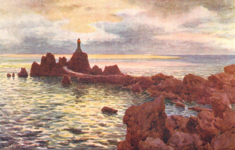 Associate Product CHANNEL ISLANDS. La Corbière Lighthouse, Jersey 1904 old antique print picture