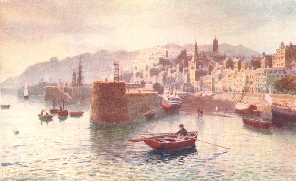 Associate Product CHANNEL ISLANDS. St. Peter-Port from the White Rock, Guernsey 1904 old print