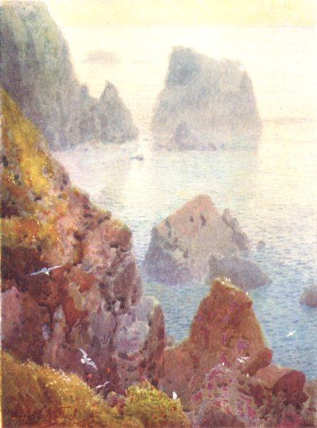 Associate Product CHANNEL ISLANDS. La Nache, Rocks of Alderney 1904 old antique print picture