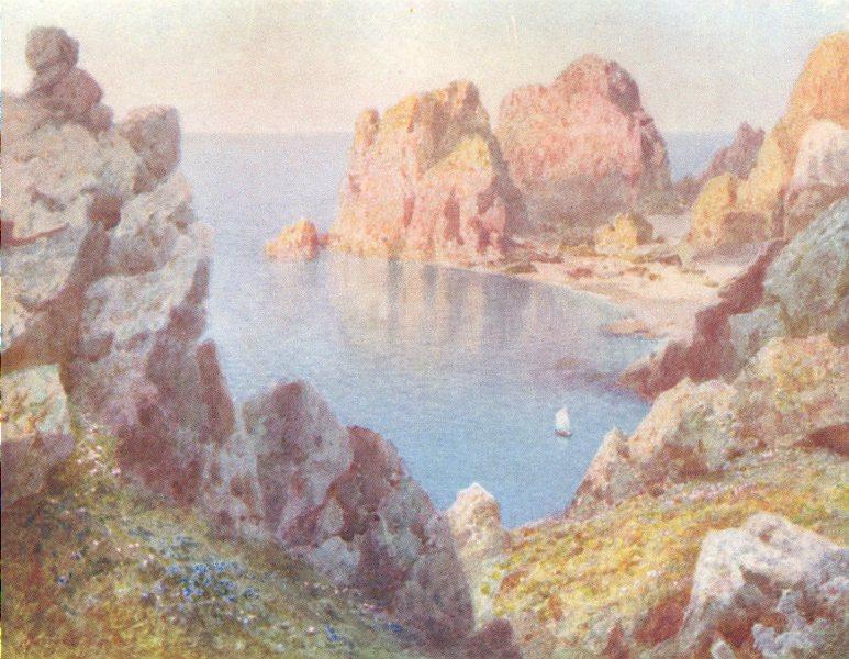 Associate Product CHANNEL ISLANDS. The Sister Rocks, Alderney 1904 old antique print picture