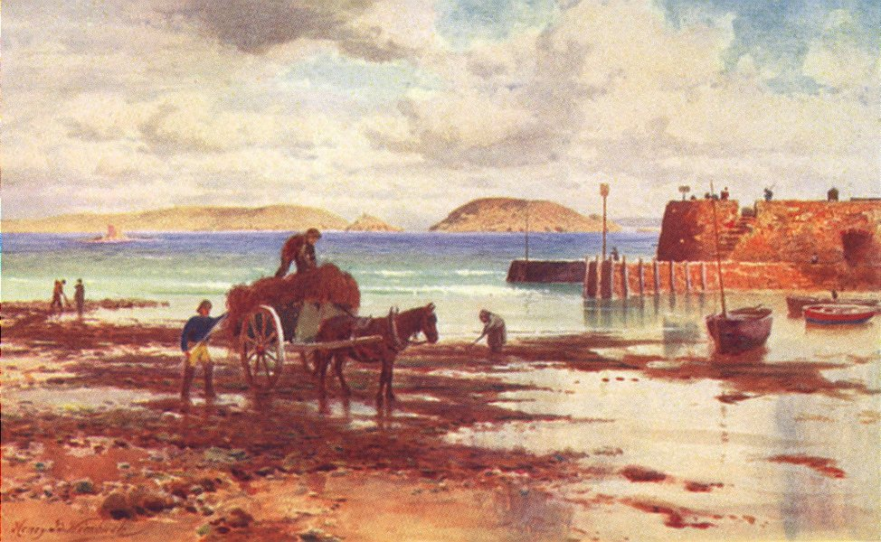 Associate Product CHANNEL ISLANDS. Herm and Jethou from the Salerie Battery, Guernsey 1904 print