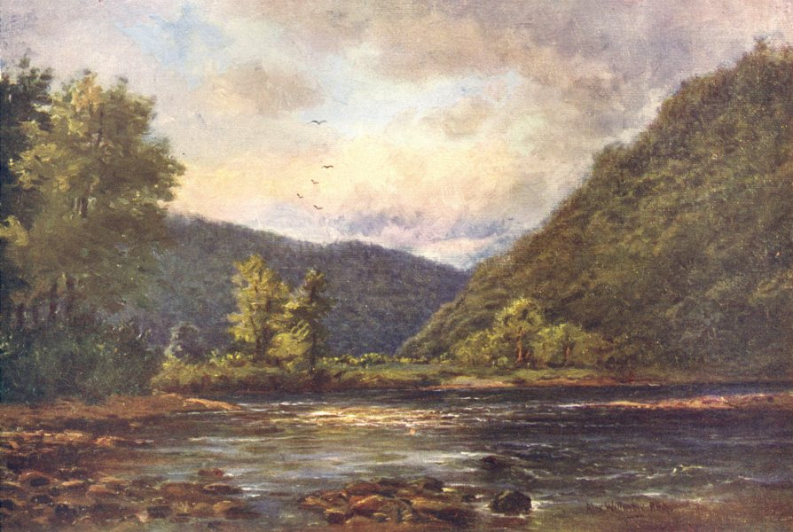 Associate Product IRELAND. Leinster. The Meeting of the Waters, Woodenbridge c1912 old print