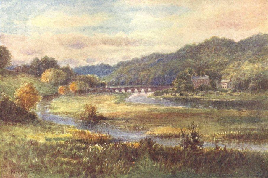 Associate Product IRELAND. Leinster. The Bridge of Slane, River Boyne c1912 old antique print