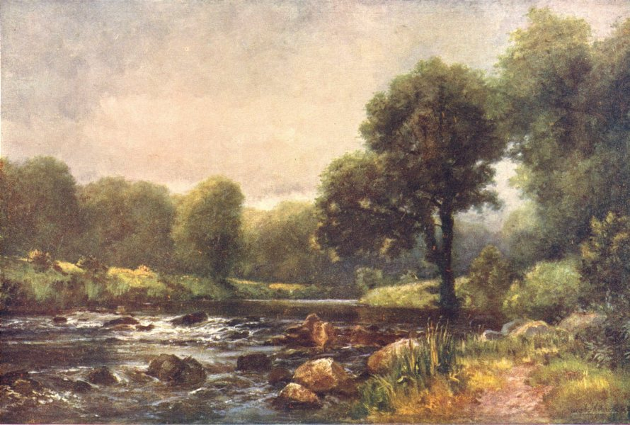 IRELAND. Leinster. On the River Slaney at Ballintemple. Rapids. c1912 print