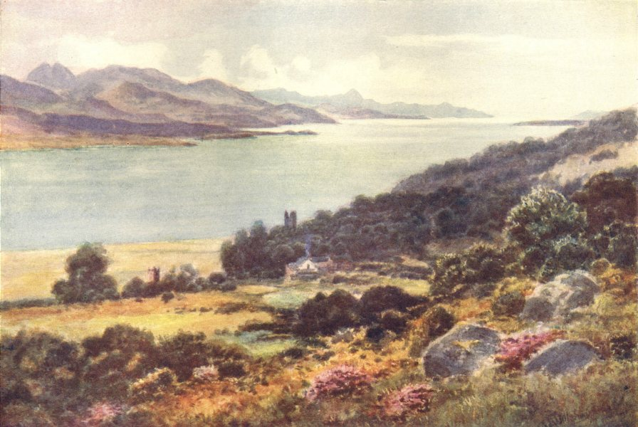 Associate Product IRELAND. Munster. Kenmare Bay, from Templeone. Cottage. c1912 old print