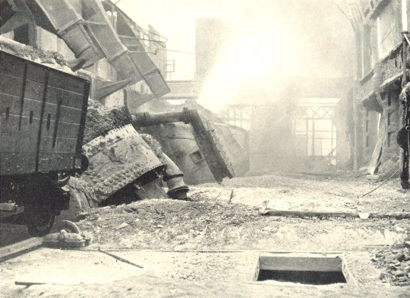 """Associate Product SLAG MANUFACTURE. The """"Blow"""". Pressurised air freed through Molten Metal 1912"""