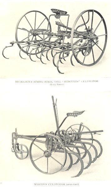 "Associate Product CULTIVATORS.Nicholson's spr.Steel ""Hercules"";Martin's Cultivator(7 tines) 1912"