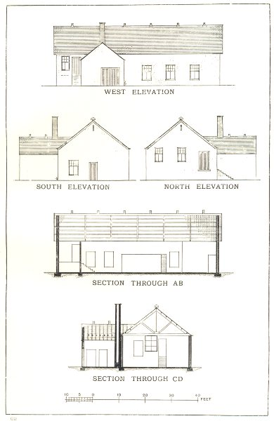 Associate Product DAIRY FACTORIES. – I; Elevations and Sections of Buttermaking Factory 1912
