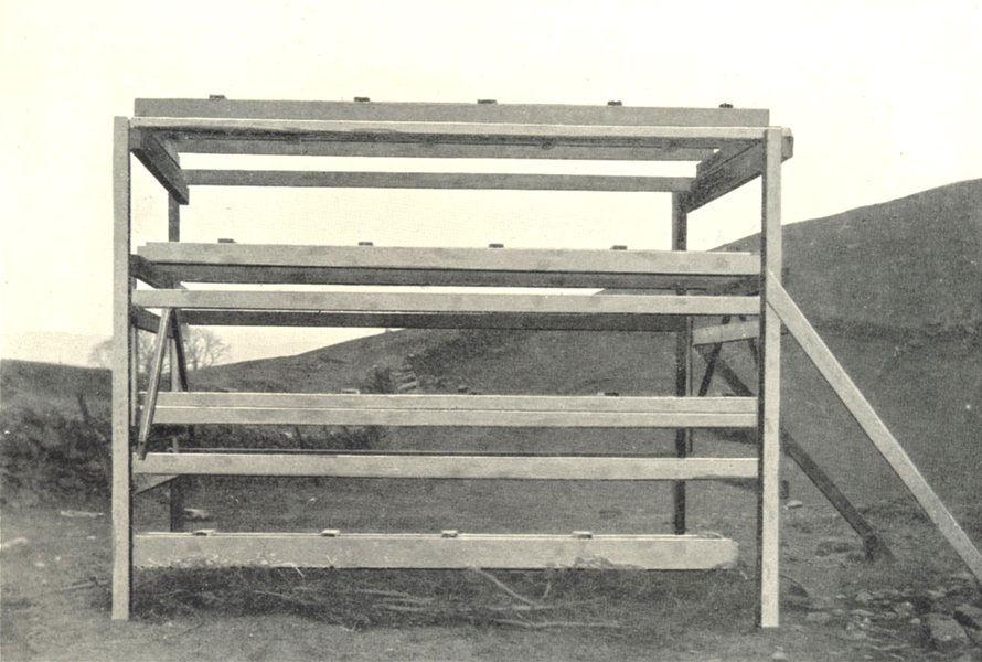 Associate Product FARMING.McAinsh-Robertson grain drying rack framework inside finished stack 1912
