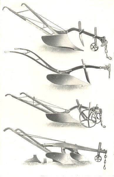"""Associate Product PLOUGHS. """"Oliver King"""" Lea. Howard's Swing. Sr. Dux. Oliver Double Chill 1912"""