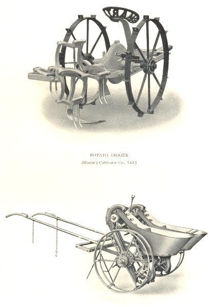 Associate Product FARMING. Potato Digger (Martin's Cultivator Co) ; Richmond Potato Planter 1912