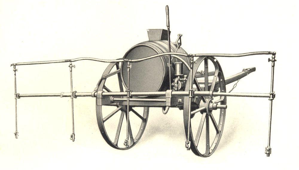 "Associate Product FARMING. Sprayers ""Mikado"" Five-Row Spraying Machine Charlock Potatoes 1912"
