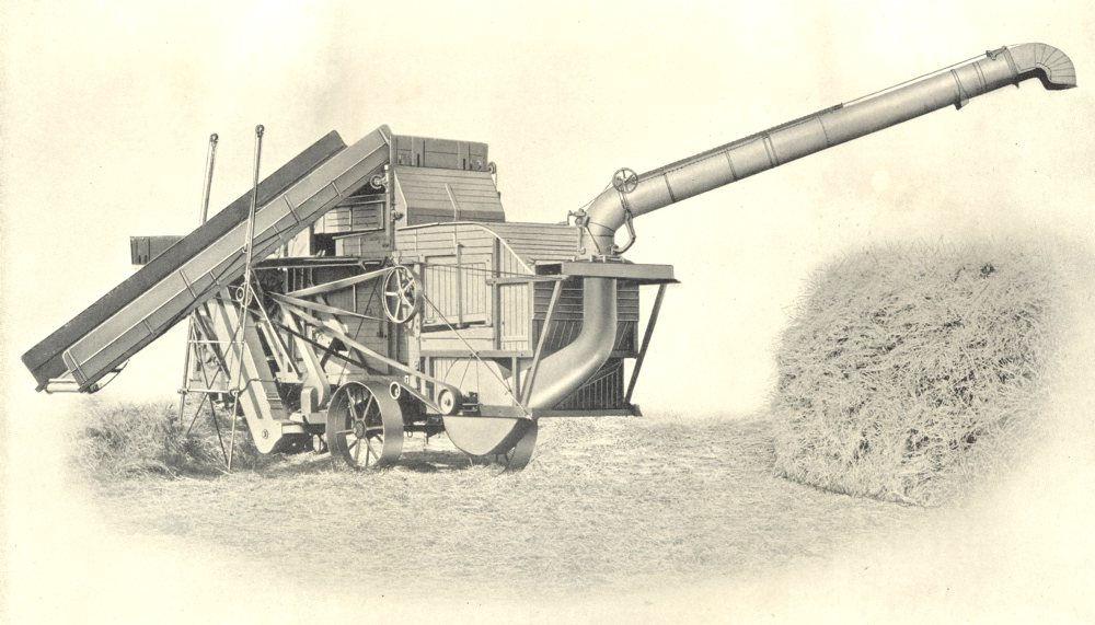 Associate Product FARMING.Threshing Machine.Sheaf Elevator,Band Cutter,Feeder,Windstacker 1912