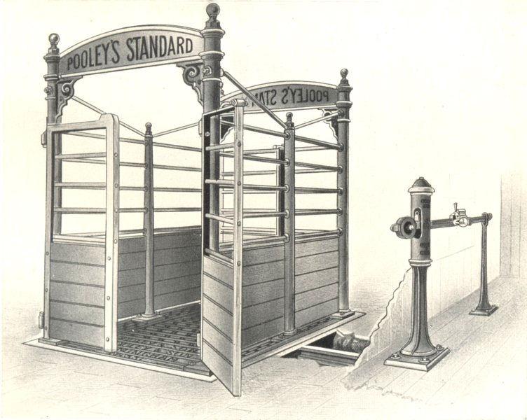 Associate Product CATTLE. Cattle Weighbridge with Patent Steelyard & Standard Cattle Pen 1912