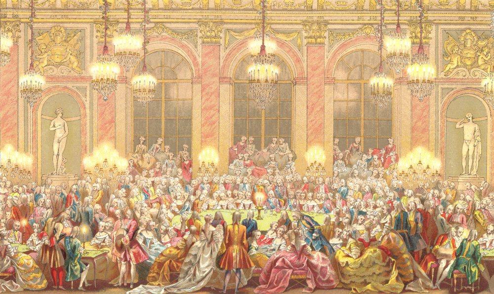 Associate Product 18TH CENTURY FRANCE. The Jeu du Roi. Chromolithograph 1876 old antique print