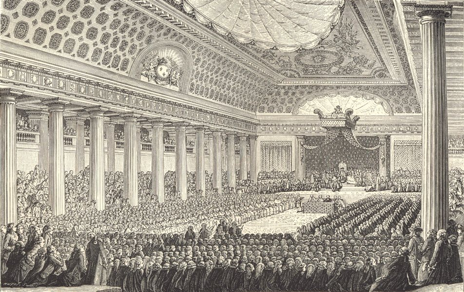 Associate Product 18TH CENTURY FRANCE. Opening of the States-General in 1789 1876 old print