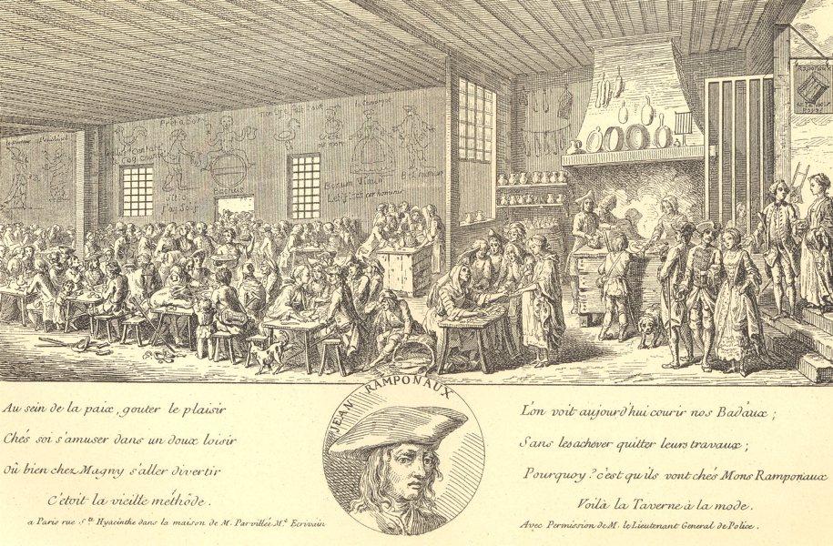 Associate Product 18TH CENTURY FRANCE. Paris. The Ramponneau Tavern 1876 old antique print