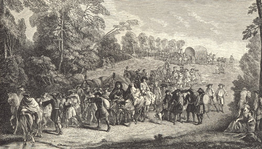 Associate Product 18TH CENTURY FRANCE. Infantry on the March; after Watteau 1876 old print