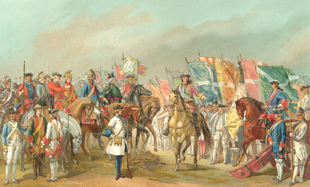 Associate Product 18TH CENTURY FRANCE. Uniforms of the French Army. Chromolithograph 1876 print