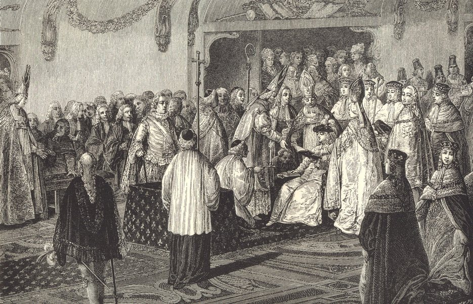 Associate Product 18TH CENTURY FRANCE. Louis XVI. Taking the Coronation Oath; after Moreau 1876