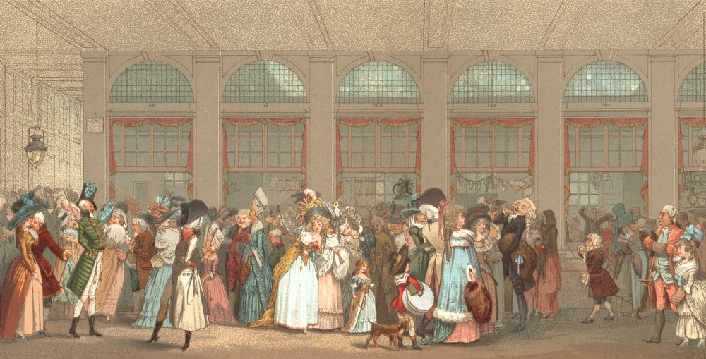 Associate Product 18TH CENTURY FRANCE. The Wooden Gallery. Chromolithograph 1876 old print