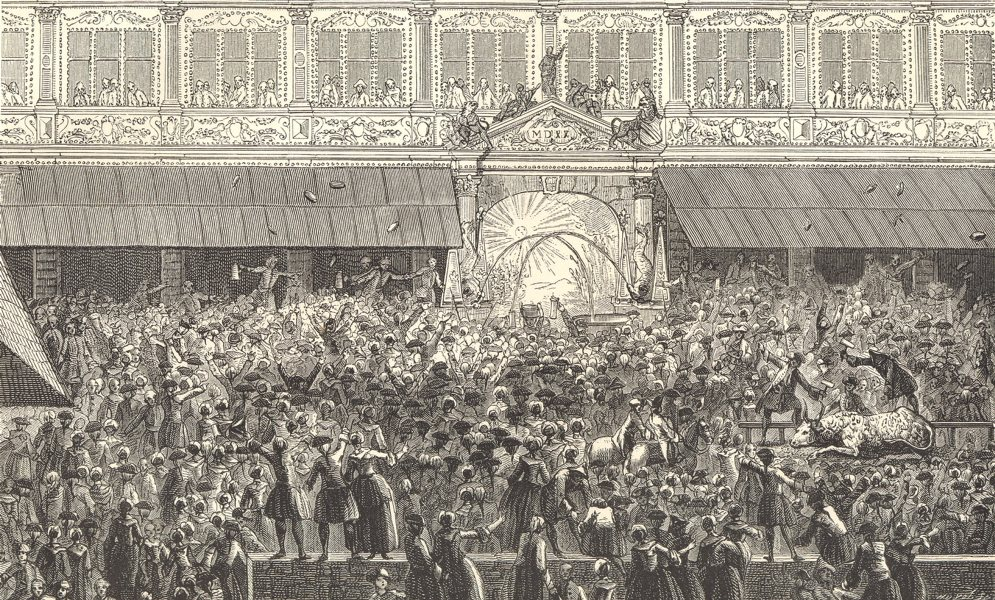Associate Product 18C FRANCE. Bas-Rhin. Distributing food in Strasbourg in 1744 1876 old print