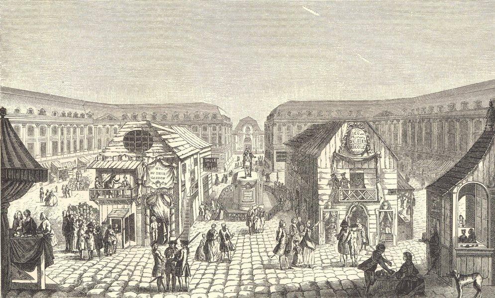 Associate Product 18C FRANCE. Paris. St. Ovide Fair. Place Louis-le-Grand (Place Vendôme) 1876