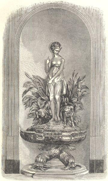 Associate Product 18C FRANCE. Paris. Gilt fountain. Hotel Normand d'Etioles, Rue Sentier 1876