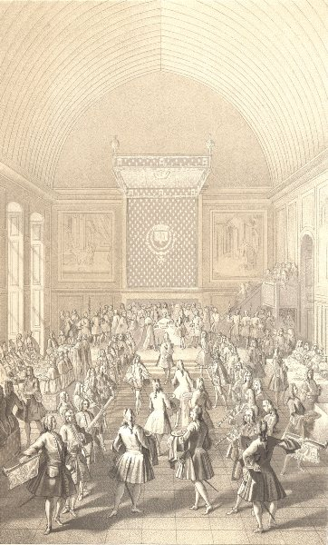 Associate Product 18TH CENTURY FRANCE. The Coronation Banquet 1876 old antique print picture