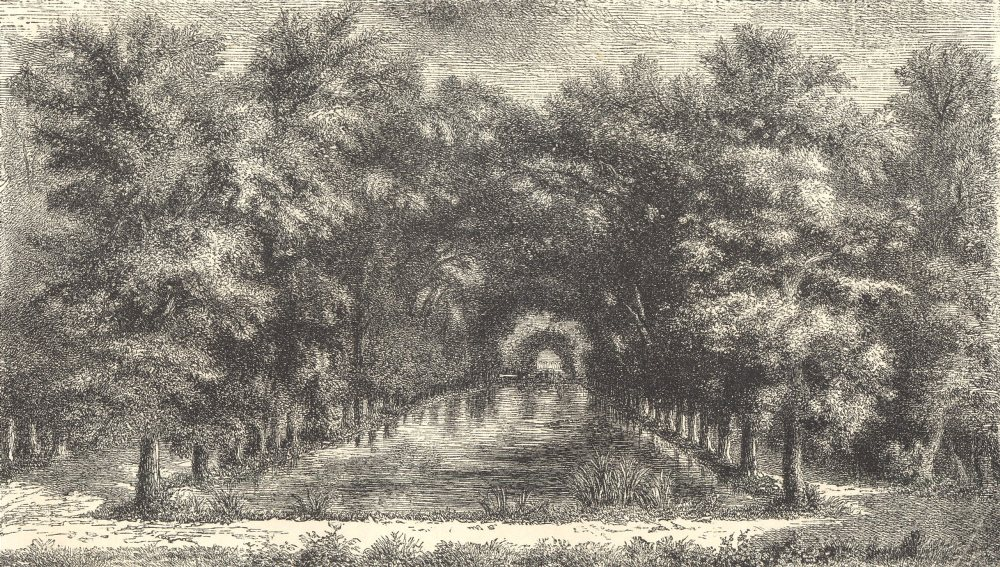 Associate Product 18TH CENTURY FRANCE. Oise. Chantilly Park, the property of the Condés 1876