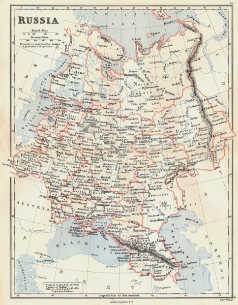 Associate Product EUROPEAN RUSSIA.Caucasus Georgia Vistula(Poland)Livonia Courland.BUTLER 1888 map