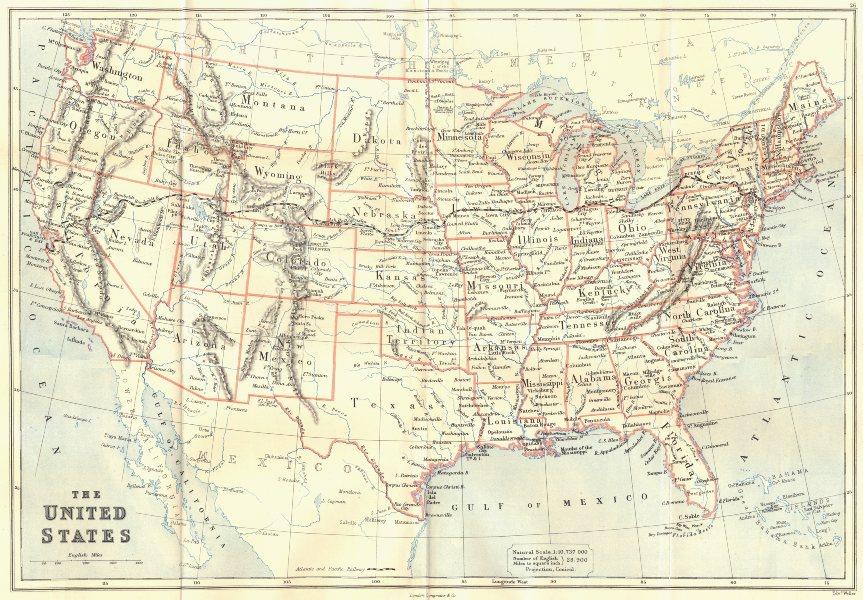 USA. Dakota Territory pre the 1889 Split into 2 states. Railway. BUTLER 1888 map