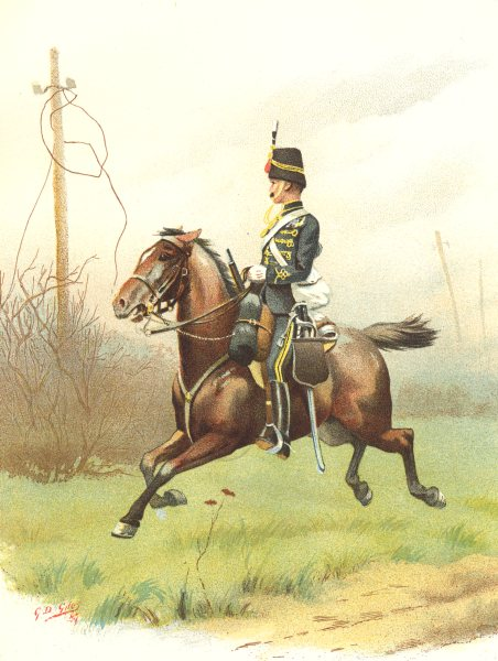 Associate Product BRITISH ARMY UNIFORMS. 10th (Prince Wale's Royal) Hussars. Rgt 1890 old print