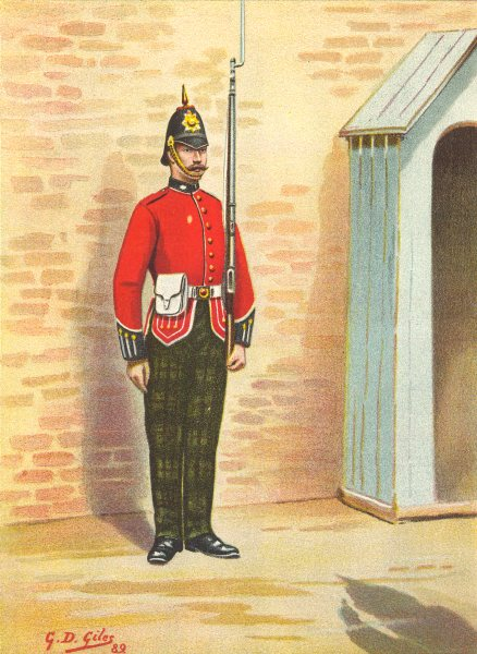 BRITISH ARMY UNIFORMS. The 25th – King's Own Scottish Borderers Regiment 1890