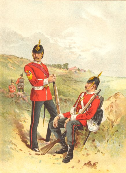 Associate Product BRITISH ARMY UNIFORMS. The 57th - Duke of Cambridge's Own (Middlesex) 1890