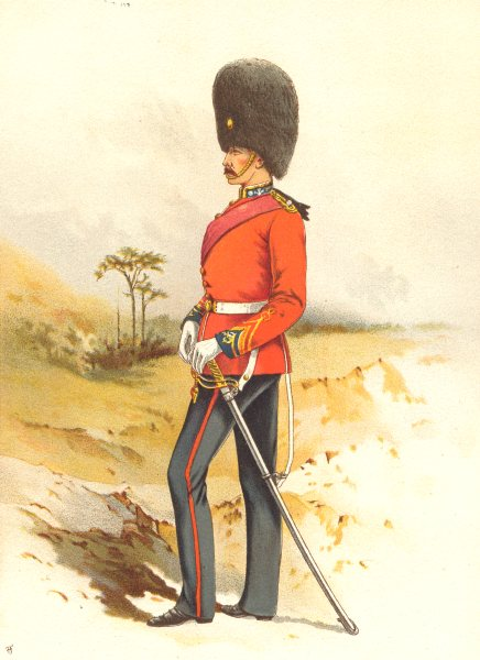 Associate Product BRITISH ARMY UNIFORMS. The 23rd – Royal Welsh Fusiliers Regiment 1890 print