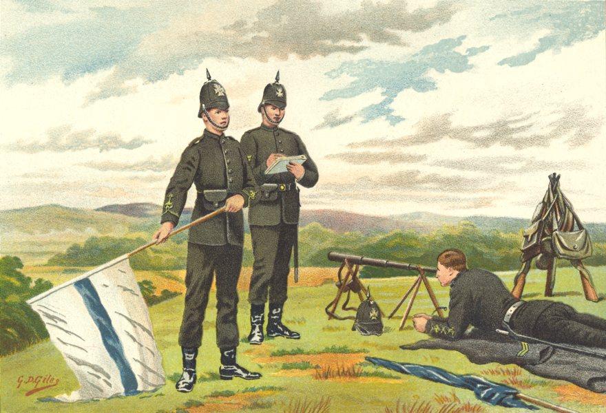 Associate Product BRITISH ARMY UNIFORMS. 1st Middlesex Victoria Rifles Volunteers Regiment 1890