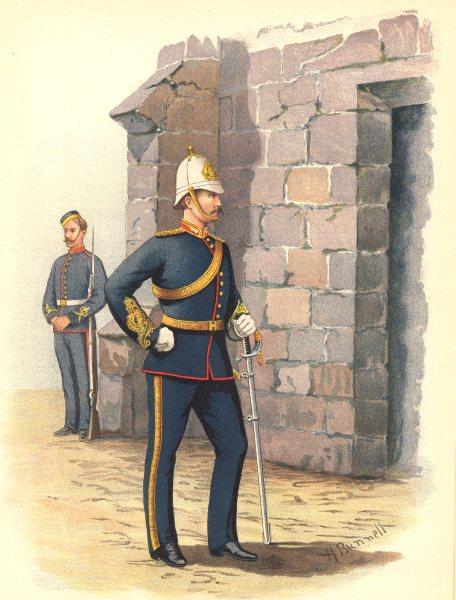 Associate Product CANADIAN MILITIA (ARMY) UNIFORMS. The Halifax Garrison Artillery 1890 print