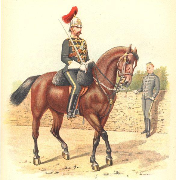 Associate Product CANADIAN MILITIA UNIFORMS. 6th Cavalry Regiment (Hussars, Canada) 1890 print