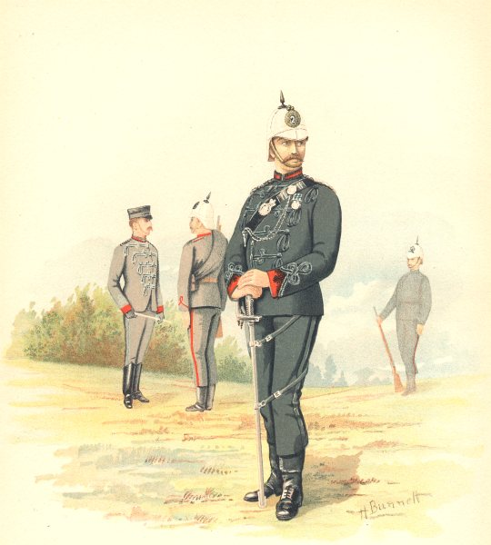 Associate Product CANADIAN MILITIA (ARMY) UNIFORMS. The 2nd Queen's Own Rifles (Canada) 1890