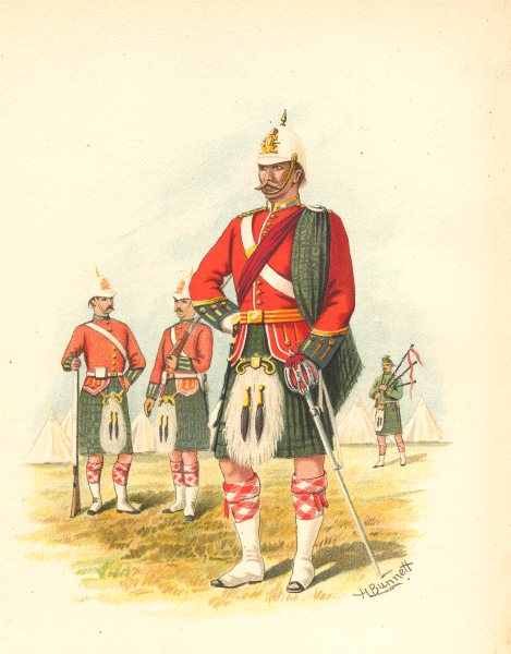 Associate Product CANADIAN MILITIA UNIFORMS. The 5th Royal Scots of Canada (Montreal) 1890 print