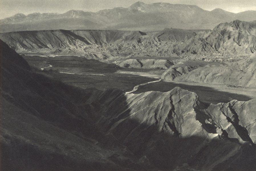 Associate Product CHILE. Rio Salado. Paisaje entre San Pedro Atacama y San Bartolo. Landscape 1932